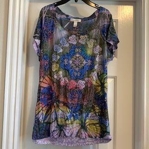 Woman's Dress Barn printed Top, Size XL
